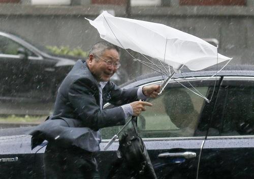 Sterke tyfoon raast over Japan