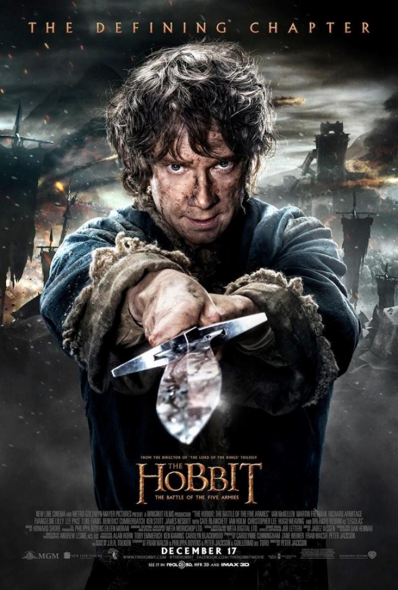 The Hobbit: The Battle Of The Five Armies - Bilbo poster