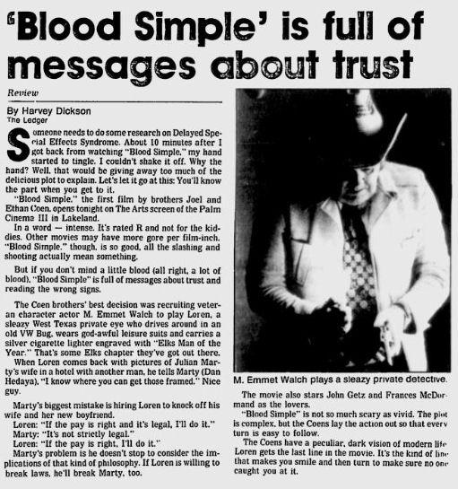 Uit de Lakeland Ledger van 20 juni 1986