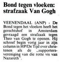 Uit de Leeuwarder Courant van 26 november 1996
