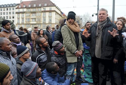 Hongerende asielzoekers in centrum München