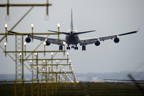 Verkeersvliegtuig even aanduwen (Foto: ANP)