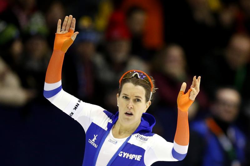 Ireen Wüst pakt voor de vierde keer de Nederlandse allroundtitel. (PRO SHOTS/Henk Jan Dijks)