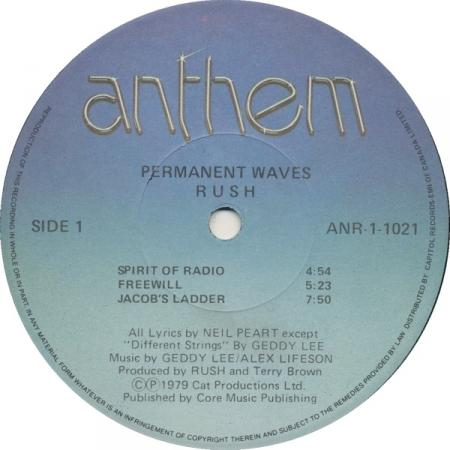 Rush - Permanent Waves A