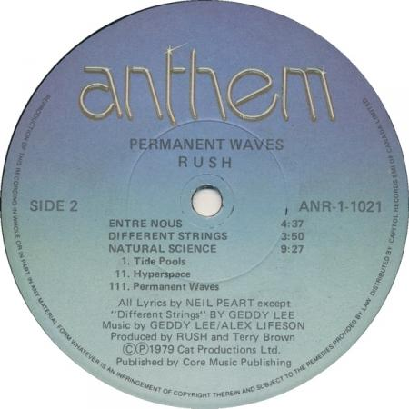 Rush - Permanent Waves B