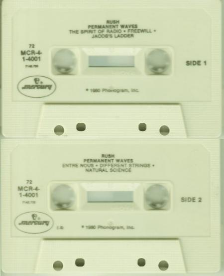 Rush - Permanent Waves tape