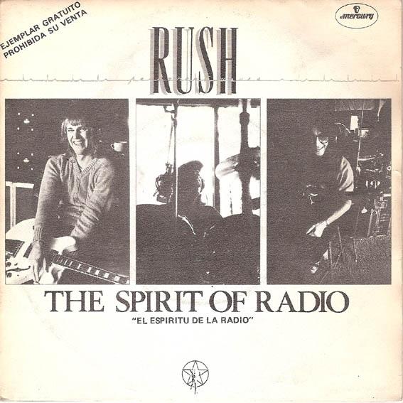Rush - The Spirit of Radio (Spaanse promo single)