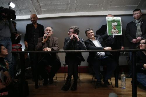 Ook Arabische en Engelse versie Charlie Hebdo (Foto: ANP)