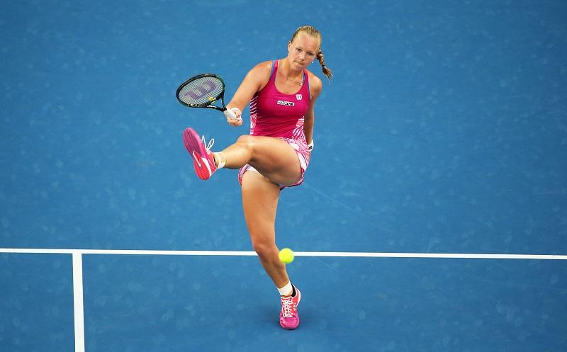 Bertens tijdens haar wedstrijd tegen Bouchard (PRO SHOTS/Actionimages)