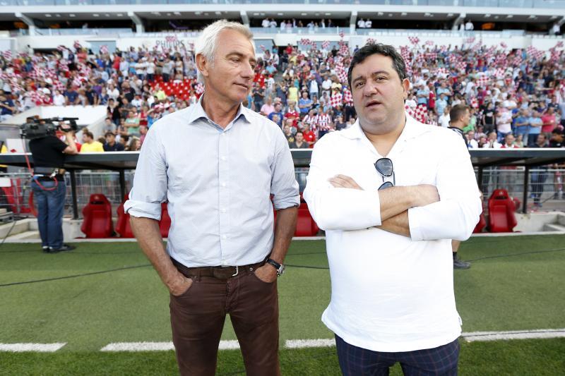 Raiola (rechts) overweegt kandidatuur FIFA-voorzitterschap (Pro Shots/Stanley Gontha)