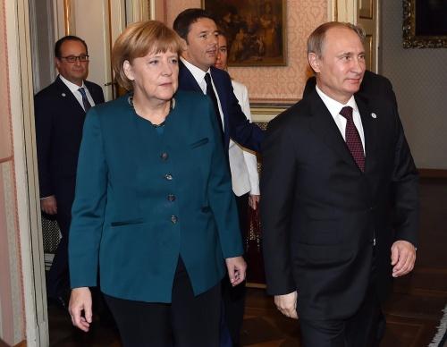 Merkel en Hollande met vredesplan bij Poetin