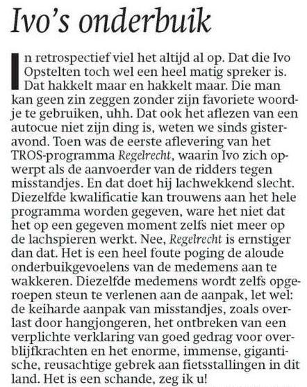 Uit het Dagblad van het Noorden van 13 januari 2010
