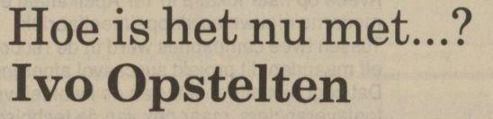 Uit het Nieuwsblad van het Noorden van 19 november 1988