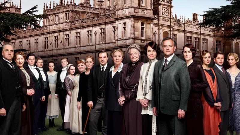 De gehele cast van Downton Abbey