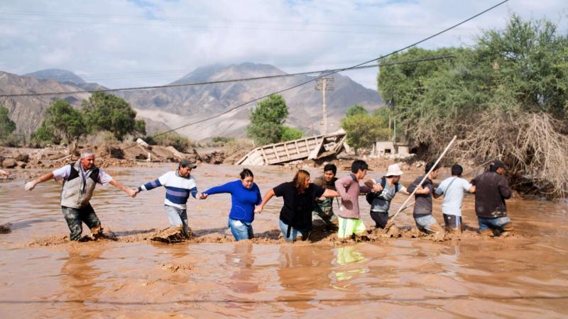 Overstroming Chili eist levens (Foto: ANP)