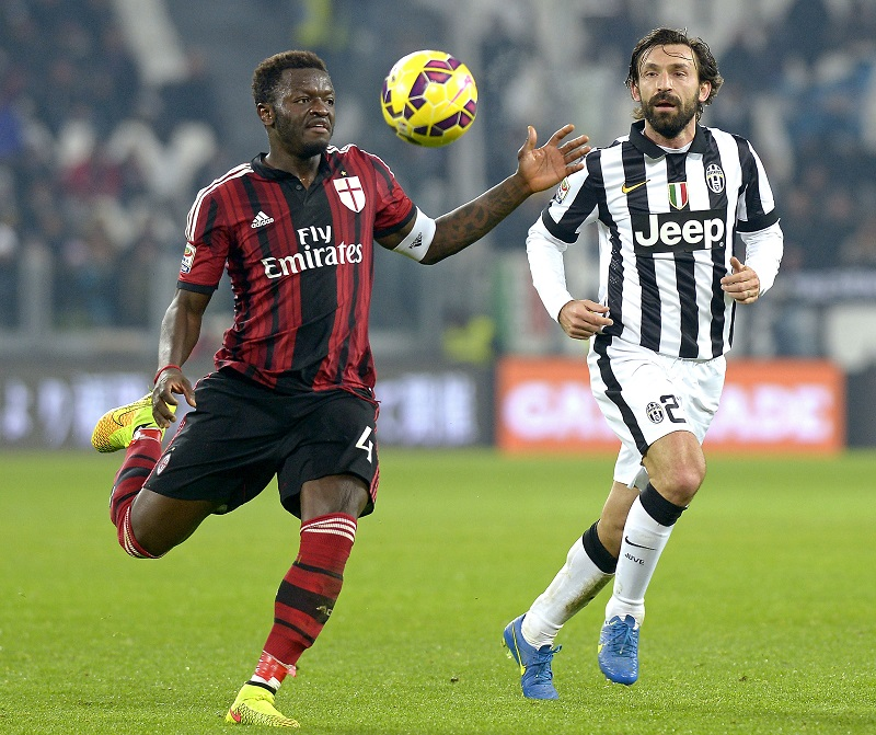 Muntari in de wedstrijd tegen Juventus waar hij nog aanvoerder was (PRO SHOTS/Insidefoto)