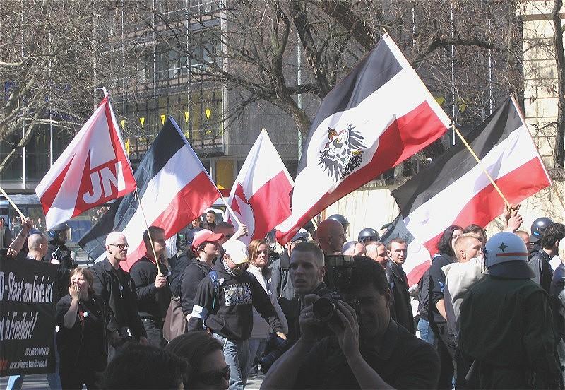 Neonazi demonstratie in München (foto © Rufus 46)