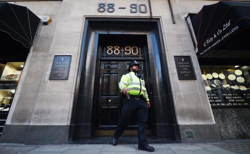 Mogelijk voor 275 miljoen gestolen in Londen
