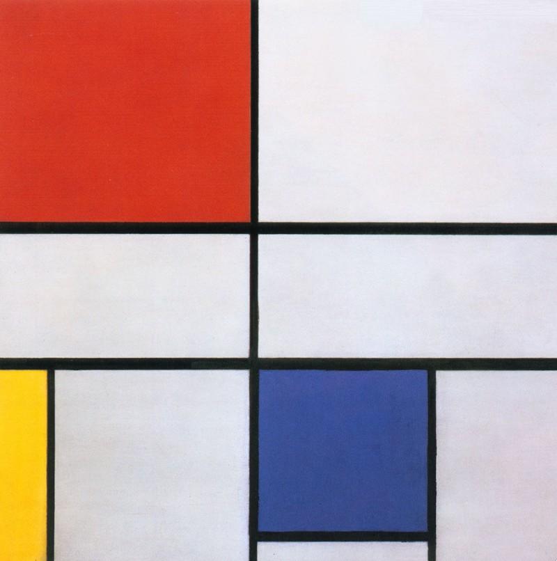 Compositie No III  (Foto: Piet Mondriaan)