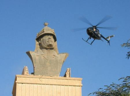 Blackwater-helicopter boven Baghdad