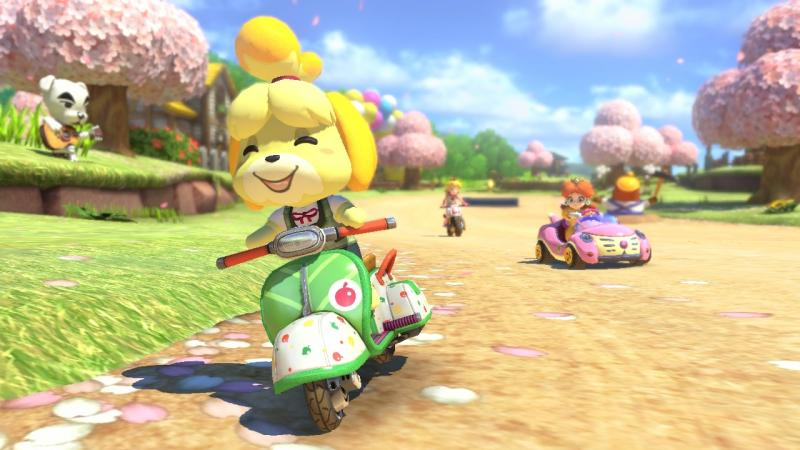 Animal Crossing in Mario Kart 8