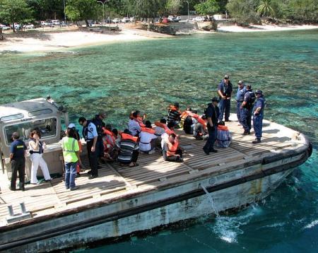 Boot onderschept bij Christmas Island