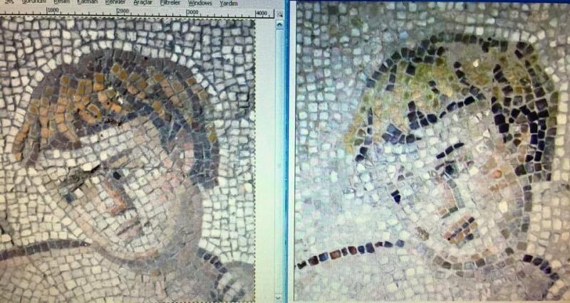 Eeuwenoude mozaïeken vernaggelt bij restauratie