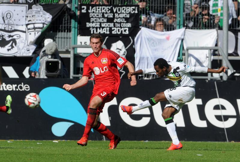 Stefan Reinartz (Gladbach) met de 3-0. (PRO SHOTS/Witters)