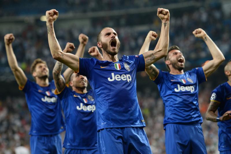 Juventus viert feest. Ze blijven in de race voor de Treble. (PRO SHOTS/insidefoto)