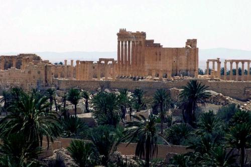 'IS verwoest beelden Palmyra'