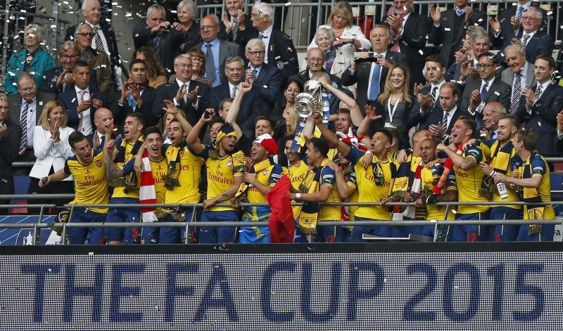 De twaalfde FA Cup-zege van Arsenal. Een record in Engeland. (PRO SHOTS/Actionimages)