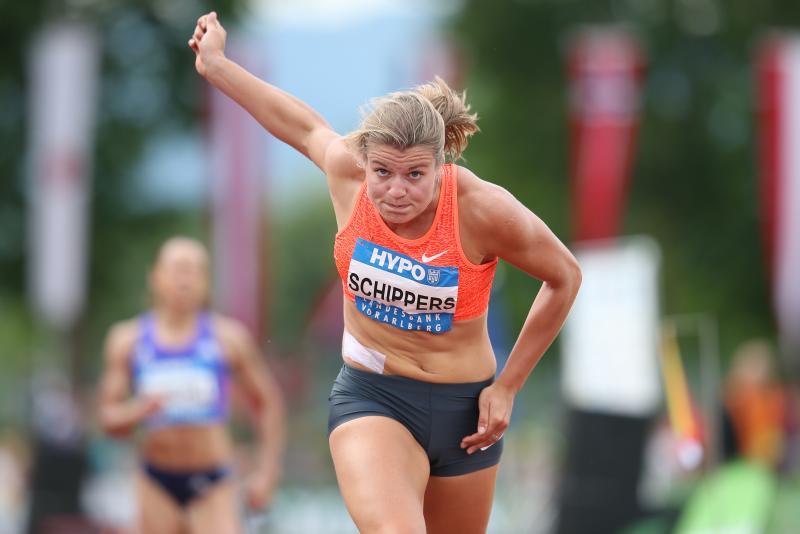 Dafne Schippers legt zich toe op de sprint (Pro Shots/Gepa)