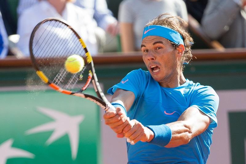 Nadal vandaag in zijn wedstrijd tegen Djokovic (PRO SHOTS/Zuma Sports Wire)