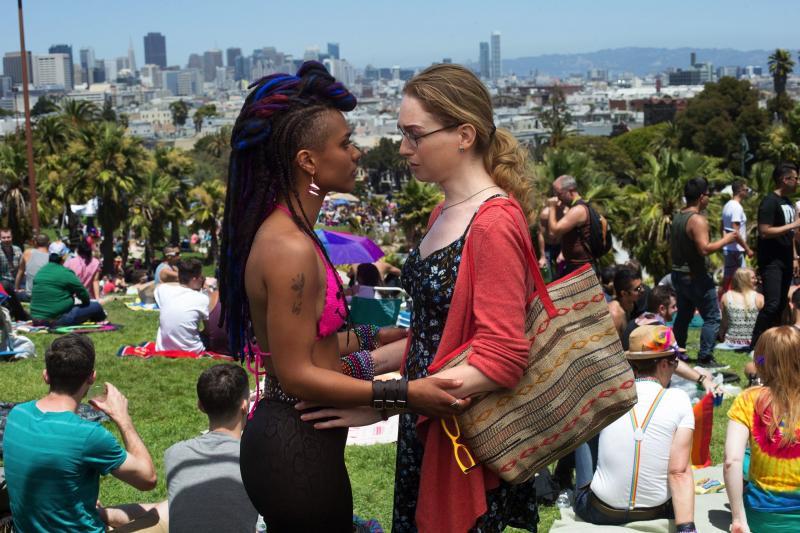 Sense8: Freema Agyeman en Jamie Clayton (Foto: Netflix)