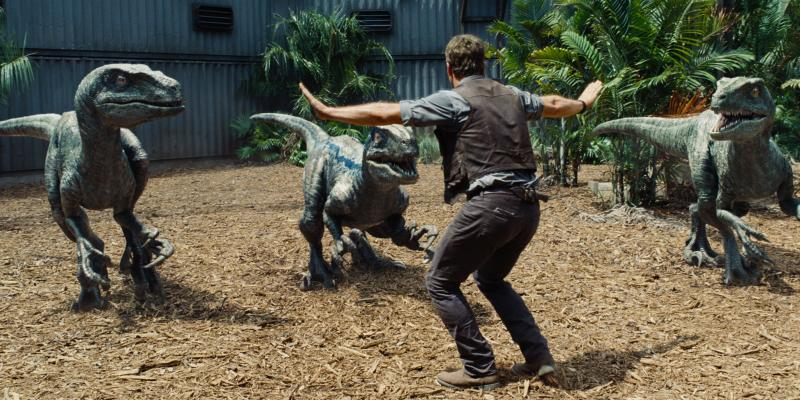 Jurassic World: Chris Pratt en raptors