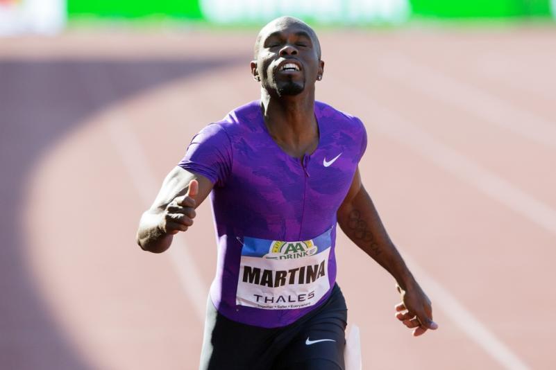 Churandy Martina plaatst zich voor het WK en de Olympische Spelen. (PRO SHOTS/Erik Pasman)