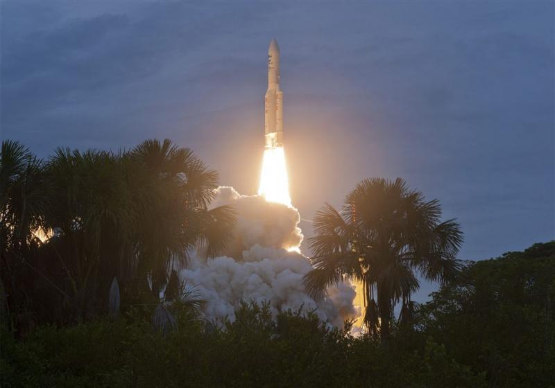 Europese raket brengt satellieten naar ruimte