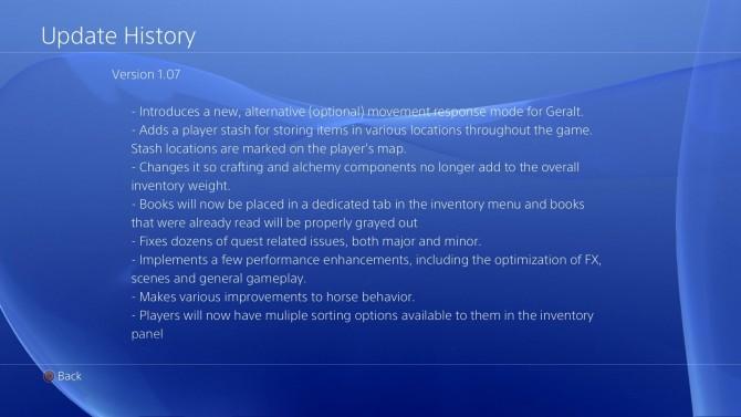 Update scherm PS4