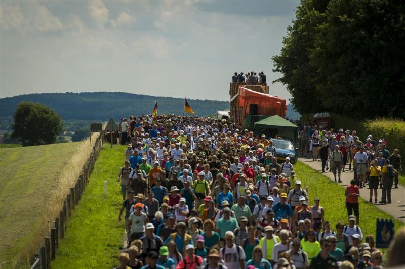 Heuvels waren 795 Vierdaagselopers te veel