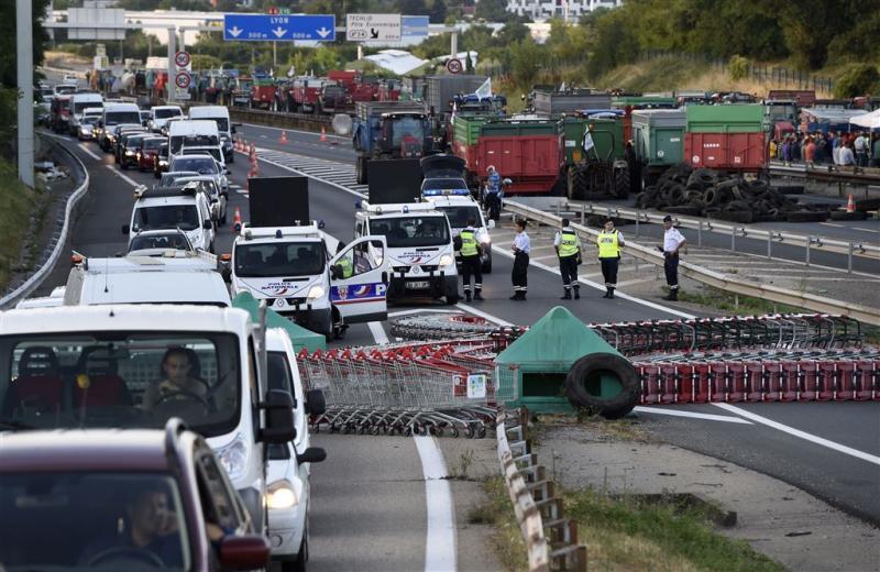Snelwegen naar Mediterranée geblokkeerd