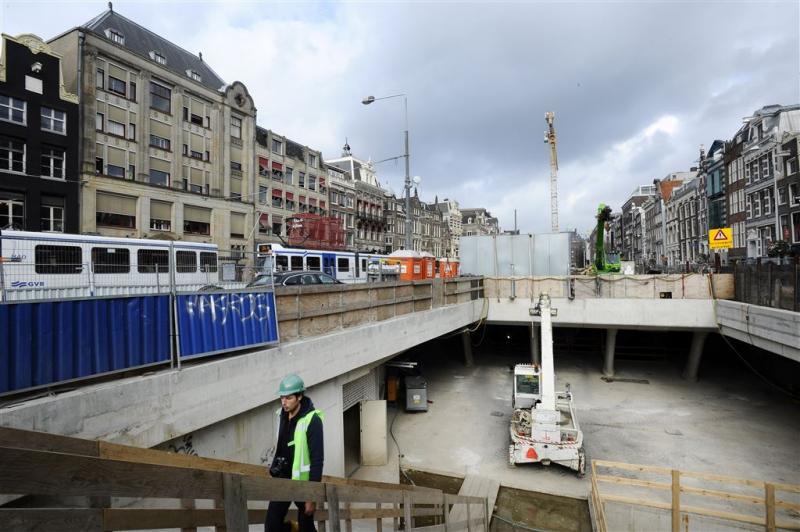 Spoor Noord-Zuidlijn Amsterdam voltooid