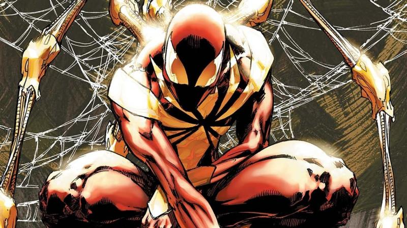 Spider-Man in zijn Civil War-outfit
