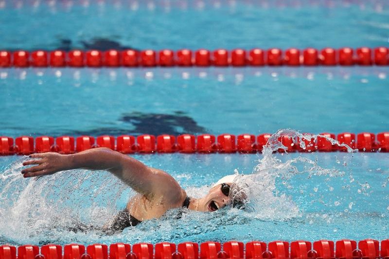 Ledecky zwom nog maar eens een wereldrecord op een van de lange afstanden (PRO SHOTS/Insidefoto)