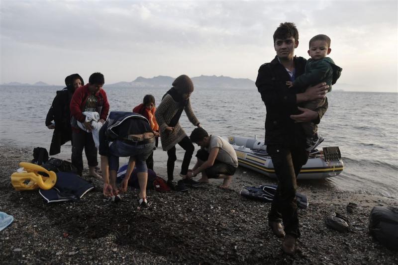 Vluchtelingenstroom leidt tot chaos op Kos