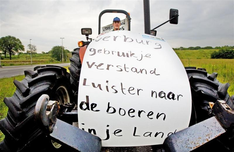 Traangas gebruikt tegen boze Belgische boeren