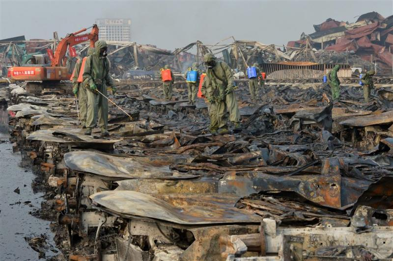Dieren geplaatst bij rampplek stad Tianjin