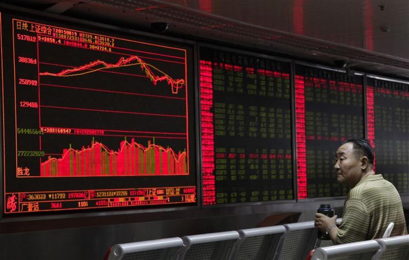 Chinese beurzen opnieuw in vrije val