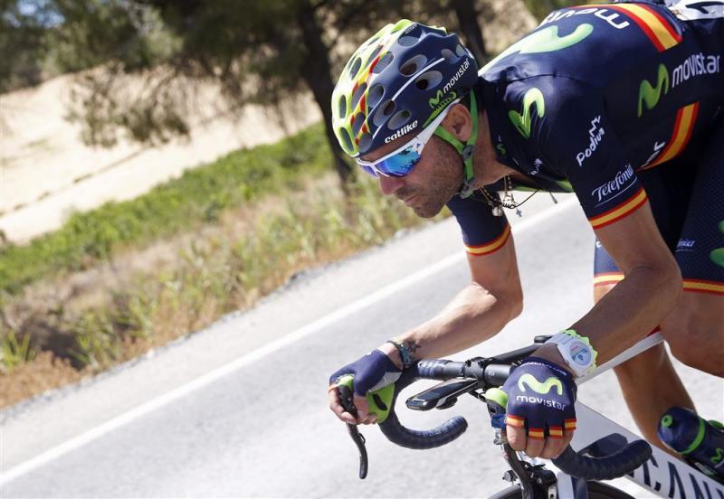 Valverde wint vierde etappe Vuelta