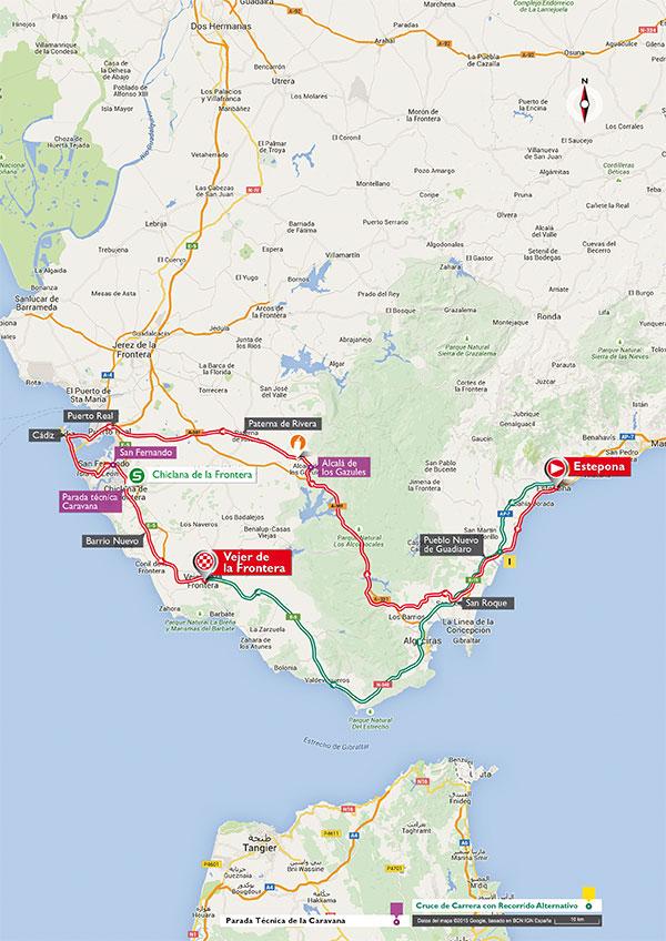 De route van deze etappe (Afbeelding: letour.fr)