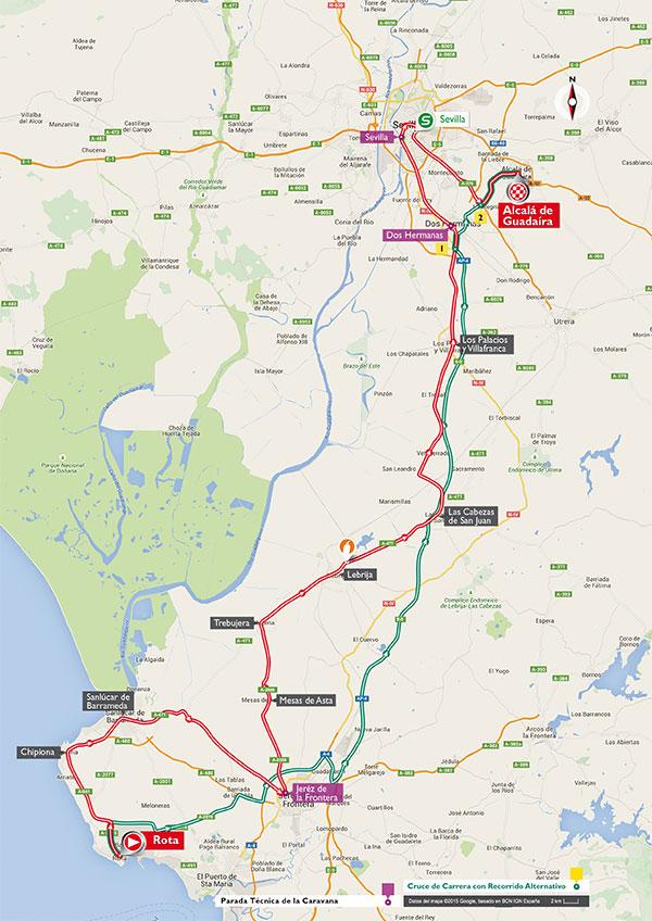 De route van etappe 5 (Afbeelding: letour.fr)